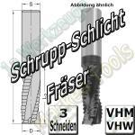 CNC Schrupp-Schlichtfräser VHM VHW