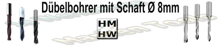 Dübellochbohrer Schaft 8mm