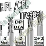 Dia-Fräser Verbundstoffe HPL CPL Trespa