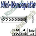 Mini-Wendemesser Wendeplatten  Brustnut Z4