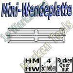 Mini-Wendemesser Wendeplatten  Rücken-Quernut Z4 abrasiv