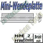 Mini-Wendemesser Wendeplatten Brustnut Z2