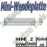 Mini-Wendemesser Wendeplatten Rückennut Z2