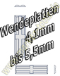 Mini Wendeplatten HM 4,1-5,5 x1,1mm