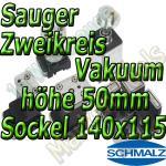 Schmalz Sauger 2-Kreis Vakuum 50mm