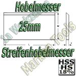 Streifenhobelmesser 25x3mm HSS18 HS18