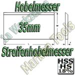 Streifenhobelmesser 35x3mm HSS18 HS18