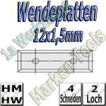 Wendemesser Wendeplatten 12x1,5mm Z4 2-Loch