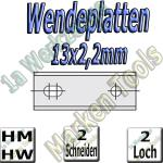 Wendemesser Wendeplatten 13x2,2mm Z2 2-Loch
