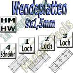 Wendemesser Wendeplatten 9x1,5mm Z=4
