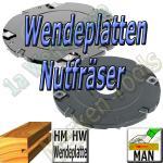 Wendeplatten Nutfräser für Holz