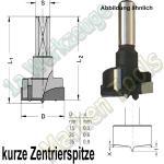 Z2+V2 Øx56.5mm Schaft 10mm kurze Zentrierspitze