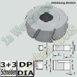 Dia-Fügefräser Ø125x43mm Ø30 DKN Z3+3 für z.B.Homag Biesse KAM links