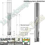 Ø 16x110x170mm Wechselplatten-Schlosskastenfräser Z2 HW S=20x55