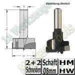 Ø 25mm x65mm Zylinderkopfbohrer Beschlagbohrer Oberfräse geeignet Z2+V2 S=8mm