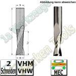 Ø 8mm x22x80mm Z2 CNC Schlichtfräser Spiralnutfräser VHW VHM S=8 RL