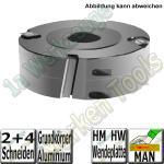 Flury Wendeplatten-Falzmesserkopf ziehender Schnitt Ø125mm x50x30mm Z2+V4 Alu