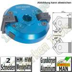 Ø170x60x30 Wendeplatten Schwenkmesserkopf mit Getriebe Z2 ± 90°