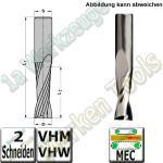 Ø 6mm x17x60mm Z2 CNC Schlichtfräser Spiralnutfräser VHW VHM S=6 RL