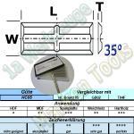 20 x 4,1 x 1,1mm Mini Wendemesser Rücken-Quernut HM HW Z4 10 Stück HC05