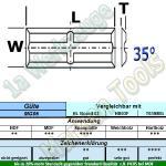 20 x 4,4 x 1,1mm Mini Wendeplatten Wendemesser Rücken-Quernut HM HW Z4 abrasiv 10 Stück MG06
