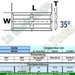 25 x 5,5 x 1,1mm Mini Wendeplatten Wendemesser Rücken-Quernut HM HW Z4 abrasiv 10 Stück MG06