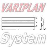 80x16x3.7mm Variplan System Hobelmesser HM HW (2Stck.)