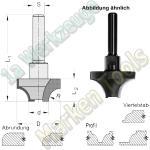 Abrundfräser R12.7mm Ø 39.4mm HM HW Z2 Schaft 6mm