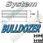 Bulldozer Hobelmesser 100mm x13.6x1.8mm HM HW 2 Stck.