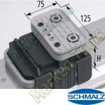 CNC Schmalz Vakuum-Sauger VCBL-K1 125x75x125 Q 140x115mm