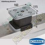 CNC Schmalz Vakuum-Sauger VCBL-K2 160x115x100 AS  160x115mm