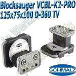 CNC Schmalz Vakuum-Sauger VCBL-K2-PRO 125x75x100 D-360-TV mit Tastventil 160x115mm