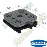 CNC Schmalz Vakuum-Sauger VCBL-S1 120x120x32,7 mit Schlauchanschluß