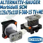 CNC Schmalz Vakuum-Sauger VCBL-S6 125x75x110 360°-15° TV+ME z.B. Morbidelli SCM Flex Flexmatic Start Pilot