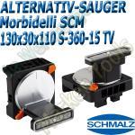 CNC Schmalz Vakuum-Sauger VCBL-S6 130x30x110 360°-15° TV z.B. Morbidelli SCM Flex Flexmatic Start Pilot