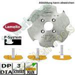Dia DP Lamello Clamex P-System Nutfräser Ø100.4 x7x22mm Z=3 für Zeta