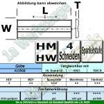 Wendeplatten Wendemesser System KWO/Versofix m.Spanleitstufe 30 x 10 x 1,5mm Z4 10 Stück KCR08