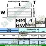 Wendeplatten Wendemesser System KWO/Versofix m.Spanleitstufe 50 x 6,5 x 1,1mm Z4 10 Stück T10MG