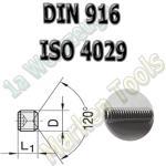 Gewindestift Ringschneide DIN 916 (ISO4029) M2,5x2,5mm A2 20 Stück