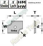 HM Abrund-Wendemesser HW 20mm x 16mm x 2mm Radius=3 (links)