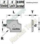 HM Abrund-Wendemesser HW 20mm x 16mm x 2mm Radius=3 (rechts)