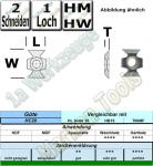 HM HW Fasemesser 45° 22x16x5mm HC20 10 Stück