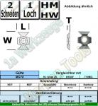 HM HW Fasemesser 45° 22x16x5mm T10MG 10 Stück