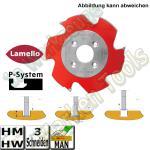 HM HW Lamello Clamex P-System Nutfräser Ø100.4 x7x22mm Z=3 für Zeta