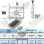 HM HW Wendeplatte Wendemesser 20 x 12 x 1.5 Z2 35° 1-Loch 10 Stück HC05
