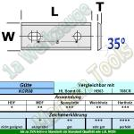 HM HW Wendeplatten Wendemesser 100 x 13 x 2.2 Z2 35° 2 Loch 10 Stück KCR08