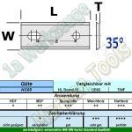 HM HW Wendeplatten Wendemesser 44,5 x 15 x 1.5 Z2 35° 2 Loch 10 Stück HC05