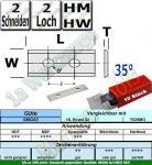 HM HW Wendeplatten Wendemesser 50 x 12 x 1.5 Z2 35° 2 Loch  10 Stück SMG02