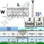 HM HW Wendeplatten Wendemesser 50 x 12 x 1.5 Z2 35° 2 Loch Spanbrechernut 10 Stück HC05