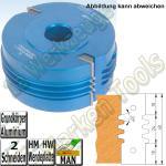 HM HW Wendeplatten Verleimfräser Trapezprofil Flury 130x30 H=60mm Alu